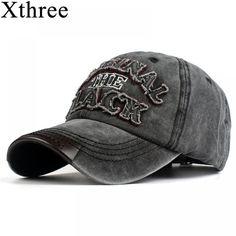 Xthree hot retro baseball cap fitted cap snapback hat for men women gorras casual  casquette Letter embroidery black cap • DREAM EMARKET 9dda7126e5df