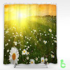 Cheap daisies meadows sunset Shower Curtain