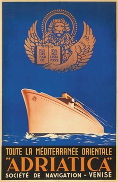 Restored vintage cruise line travelposter from Italy. From To the Eastern Mediterranean. Bus Travel, Travel And Tourism, Vintage Travel Posters, Poster Vintage, Vintage Prints, Tourism Poster, Vintage Boats, Dress Shirts For Women, Advertising Poster