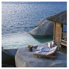 Enjoy majestic views of the Vietnam Sea at Six Senses Ninh Van Bay resort. Explore our specialty private pool villas surrounded by the mountains of Nha Trang. Amazing Swimming Pools, Cool Pools, The Places Youll Go, Places To Go, Vietnam Image, Formations Rocheuses, Ko Samui, Samui Thailand, Water Villa