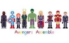 Avengers Assemble EXTENDED - Marvel Cross Stitch Pattern