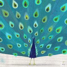 Melanie Mikecz-patterned peacock print