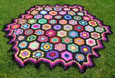 picnic blanket wow colours by thespannerworks on Etsy