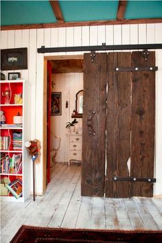 Cool rustic bathroom door