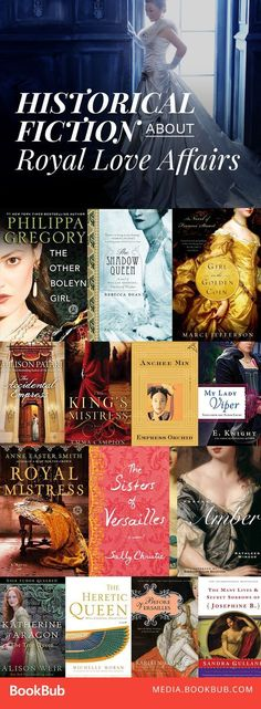 15 Historical Fiction Books About Royal Love Affairs That Changed Everything Historical fiction books about royal love affairs. Featuring suspense and romance, these books will transport you from England to Egypt. I Love Books, Good Books, Books To Read, Big Books, Teen Books, Book Suggestions, Book Recommendations, Historical Fiction Books, Historical Romance