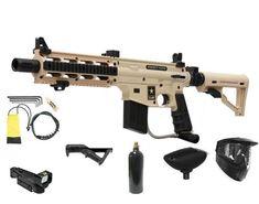 NEW Tan Tippmann US ARMY PROJECT SALVO Sniper Paintball Gun ADP Package Red Dot