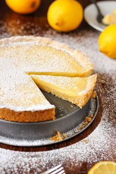 Simple Homemade Lemon Tart. Family favorite recipe. Easy to bake and only basic ingredients.