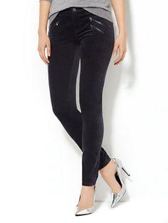 Velveteen Zip-Pocket Legging  - New York