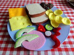 Felt Food Play Food Sandwich Kids Toys Play Kitchen Felt