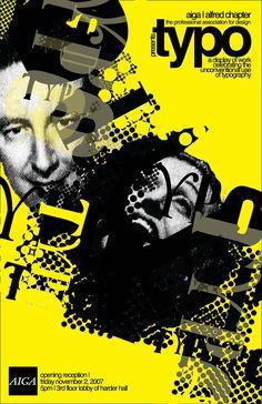 AIGA typo show poster by palindromenoise.deviantart.com on @DeviantArt