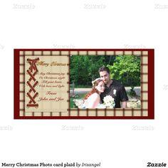 Merry Christmas Photo card plaid