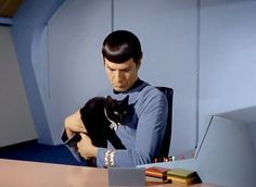 """At the venerable actor's passing, we revisit a """"Star Trek"""" episode involving Spock and a black cat."""