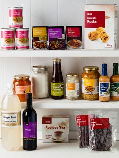 South African staples in every home's pantry, from near by supermarkets. Real Food Recipes, Dessert Recipes, Desserts, Biltong, Ginger Beer, Muesli, Food Preparation, Chutney, Pantry