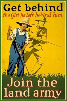 Womens Land Army Poster 191418 WW1  Print by BloominLuvly on Etsy, $9.95