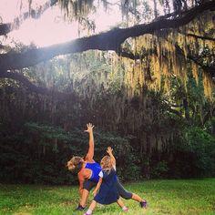 Yoga Under the Oaks at Charles Towne Landing in #Charleston, South Carolina. #yoga #kidsyoga #scstateparks