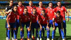 Chile players pose for a team photo