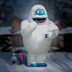 The 15 Ft. Inflatable Bumble The Snow Monster - Hammacher Schlemmer