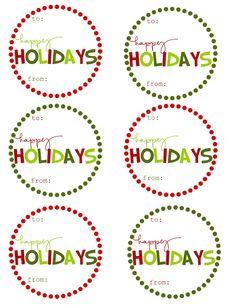 {Free Printable} Christmas Gift Tags - several - bjl