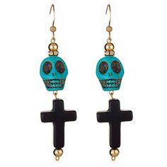 Last Rites Earrings-Turquoise $23