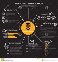 Resume (CV) Template, Vector Stock Vector - Illustration of background, hiring: 67936509 Graphic Resume, Resume Cv, Resume Design, Web Design, Graphic Design, Cv Template, Templates, Interview, Cv Design