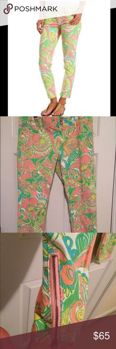 🎉HOST PICK🎉Lilly Pulitzer skinny mini pants Lilly Pulitzer multicolor worth skinny mini zip pants are in perfect condition. Women's size 10 with zippers on bottom of pants. Lilly Pulitzer Pants Skinny