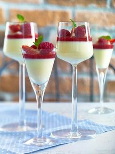 White chocolate pannacotta and raspberry coolee