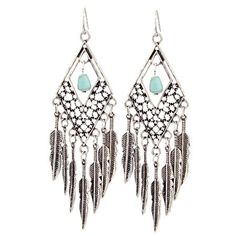 Debut Feather Stone Earrings