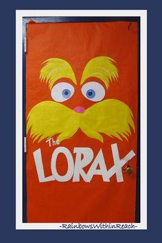 Classroom Door Decoration for Dr. Seuss book The Lorax
