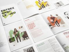 This project for Théâtre de Quat'Sous by boutique is really lovely. The Théâtre de Qu. Editorial Layout, Editorial Design, Graphic Design Layouts, Layout Design, Jack Purcell Converse, Picture Albums, Brochure Layout, Book Layout, Flyer Design