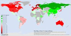 Vladimir Putin's approval rating by country