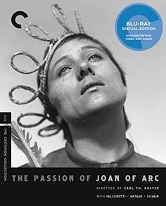 The Passion of Joan of Arc (The Criterion Collection) [Blu-ray] - Spiritual rapture and institutional hypocrisy come to stark, vivid life in one of the most transcendent masterpieces of the silent era. Chronicling the trial of Joan of Arc in the days leading up to her execution, Danish master Carl Theodor Dreyer depicts her torment with startling immediacy, emp...