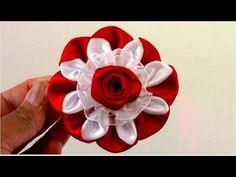 DIY Kanzashi flores pétalos copos de nieve - Kanzashi flower petals snow flakes - YouTube