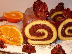 Swiss Cake, Waffles, Cheesecake, Sweets, Breakfast, Roll Cakes, Cake Rolls, Recipes, Basket