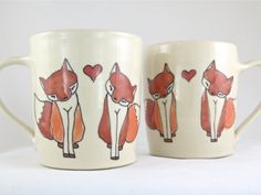 Mugs with Foxes