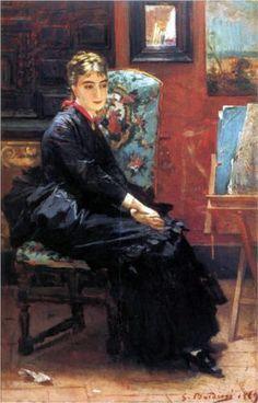"""Rosina Pisani"", c. 1870s, by Giovanni Boldini (Italian, 1842-1931)."