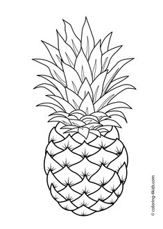Free Printable Fruit Coloring Pages For Kids Druckbare Obst Ananas Malvorlagen Vegetable Coloring Pages, Fruit Coloring Pages, Pattern Coloring Pages, Coloring Pages To Print, Free Printable Coloring Pages, Coloring Pages For Kids, Adult Coloring, Free Coloring, Kids Coloring Sheets