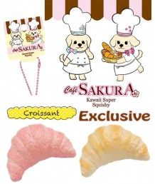 Cafe Sakura Croissant Squishy.