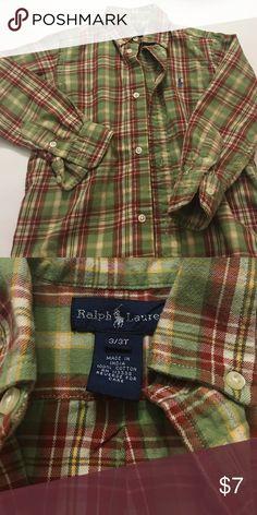 Ralph Lauren - toddler boy shirt Size 3T boys button up shirt; excellent condition! Ralph Lauren Shirts & Tops Button Down Shirts