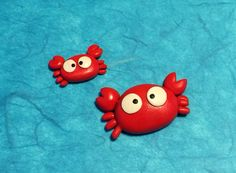Polymer clay crabs (created by Kelly Bouchard)