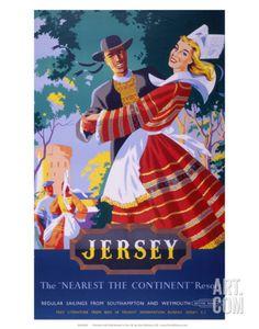 Jersey, BR, c.1952 Art Print by Nevin at Art.com