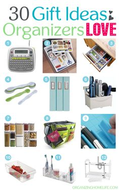 30 Gift Ideas for Organizers 30 Gifts, Gifts For Dad, Storage Organization, Organizing Tips, Organising, Organize Your Life, Thing 1, Getting Organized, Cleaning Hacks