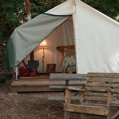Not quite a bungalow but looks like fun! Fernwood Resort, Big Sur. Via Travel + Leisure.
