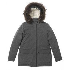 Shop A/W17 Duvetica Glynne Ladies Wool Flannel Down Coat Grey - LINEAFASHION.COM
