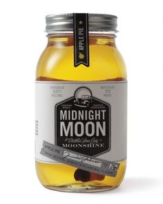 Apple-Pie Moonshine  Moonshine Martini (use the Midnight Moon Plain)    1-1/2 oz. Midnight Moon  Splash of dry vermouth  Shake with ice and serve in a martini glass  Garnish with an olive or lemon peel