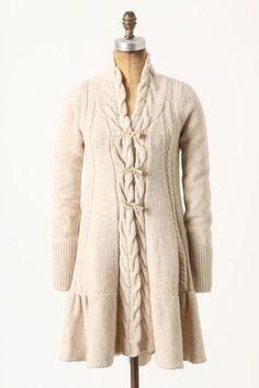 Braided Toggle Sweatercoat - anthropologie.com