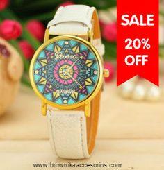 Reloj Mandala Pulso Beige Precio $ 18.400 Tienda online de Accesorios www.brownikaaccesorios.com