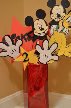 Mickey Mouse Theme Birthday Centerpiece by KhoshtinatDesigns, $25.50