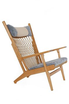 A Rare Hans J. Wegner JH 719 Lounge Chair With Frame Of Oak,