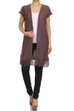 Long knitted vest by coolchicworld on Etsy