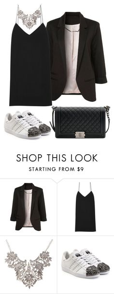 """""""Donna"""" by luucri ❤ liked on Polyvore featuring The Row, adidas Originals and Chanel"""